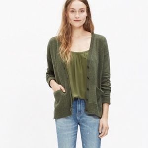 Madewell Olive Landscape Cardigan Sweater Small